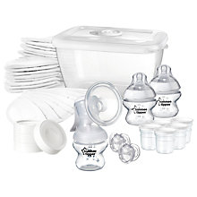 Buy Tommee Tippee Closer To Nature Manual Breast Pump Feeding Kit Online at johnlewis.com