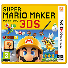 Buy Super Mario Maker, Nintendo 3DS Online at johnlewis.com