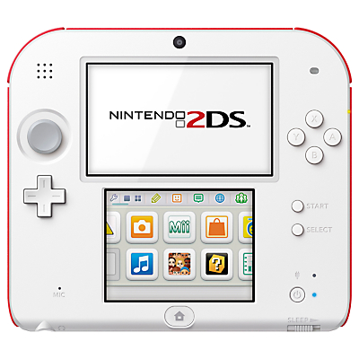 Nintendo 2DS Console with Tomodachi Life, White/Red