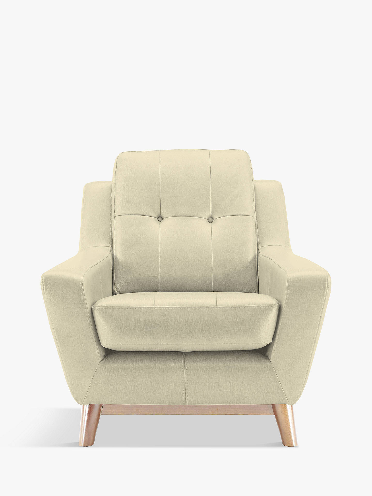 BuyG Plan Vintage The Fifty Three Leather Armchair, Capri Chalk Online at johnlewis.com
