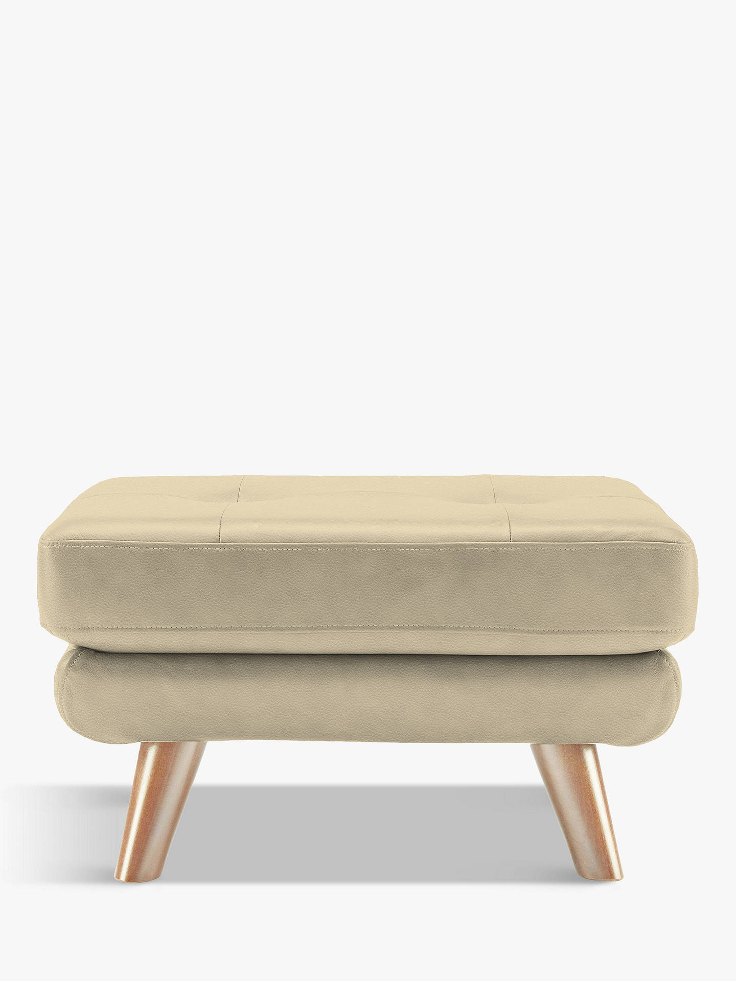 BuyG Plan Vintage The Fifty Three Leather Footstool, Capri Putty Online at johnlewis.com