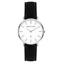 Buy Abbott Lyon Women's Kensington 34 Date Suede Strap Watch Online at johnlewis.com