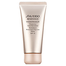 Buy Shiseido Benefiance WrinkleResist24 Protective Hand Revitaliser, 200ml Online at johnlewis.com