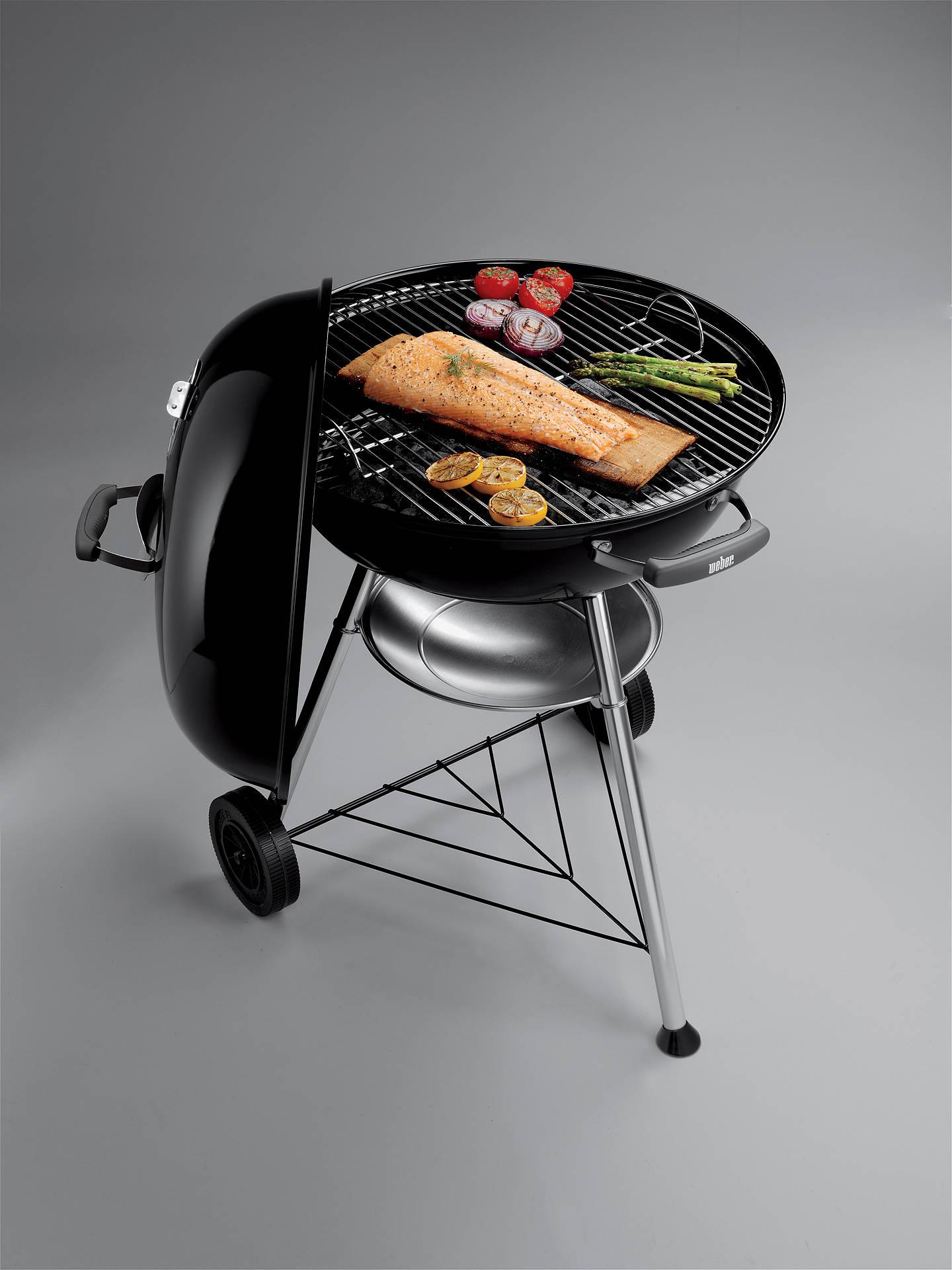 Weber Compact 57cm Kettle Charcoal BBQ, Black