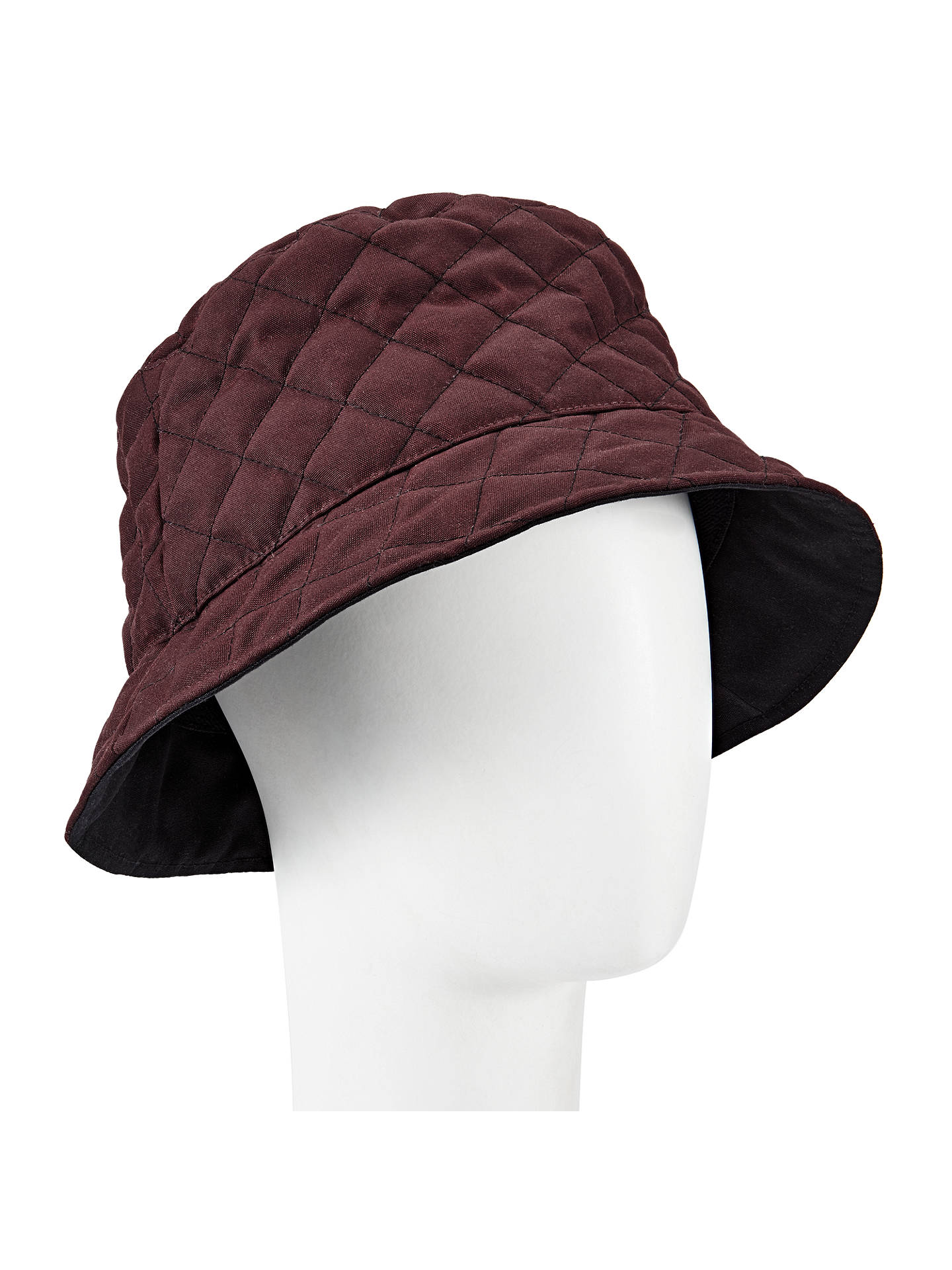 dc6fdb03aef5d John Lewis Quilted Waxed Bucket Rain Hat at John Lewis   Partners
