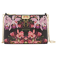 Buy Ted Baker Dilalah Lost Gardens Leather Across Body Bag, Black Online at johnlewis.com
