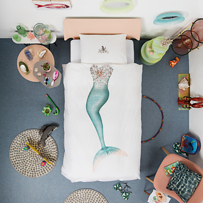 Snurk Mermaid Duvet Cover and Pillowcase Set, Single