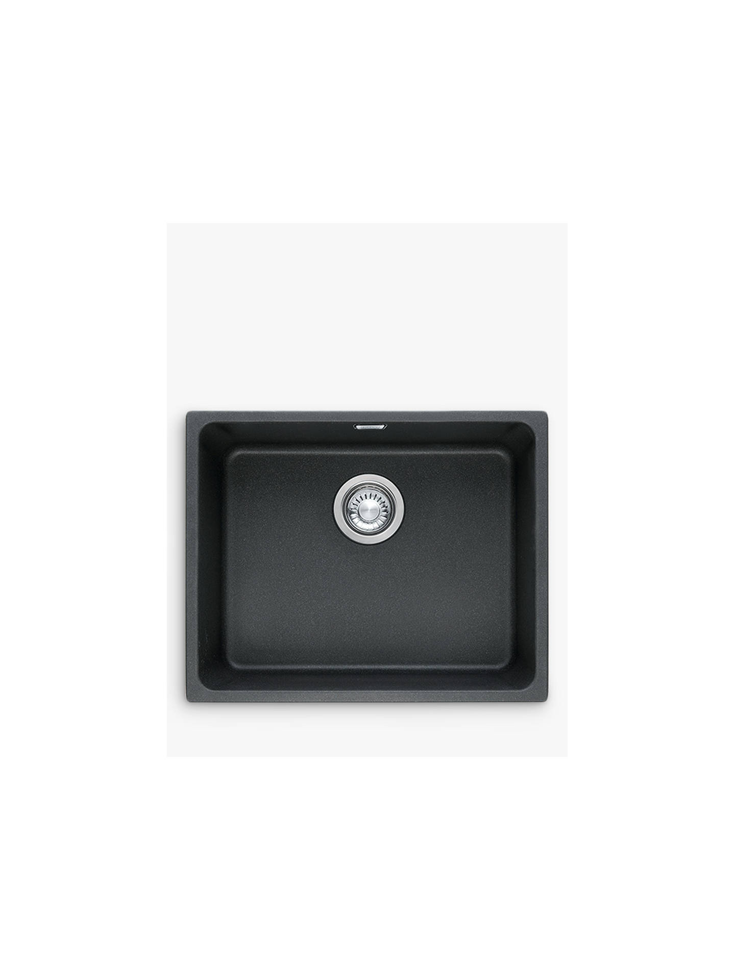 Buy Franke Kubus KBG 110 50 Single Bowl Undermounted Fraganite Kitchen Sink, Onyx Online at johnlewis.com