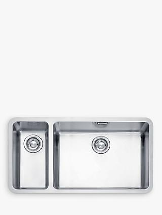 Franke Kubus KBX 160 55-20 Right Hand 1.5 Bowl Undermounted Kitchen Sink, Stainless Steel