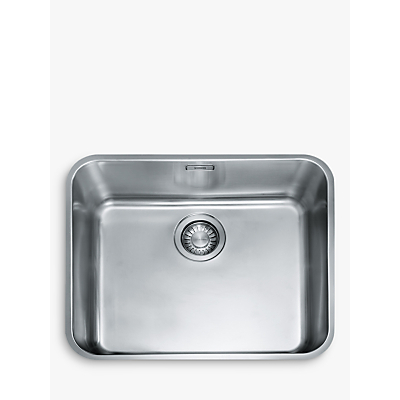 Franke Largo LAX 110 50-41 Undermounted Single Bowl Kitchen Sink, Stainless Steel