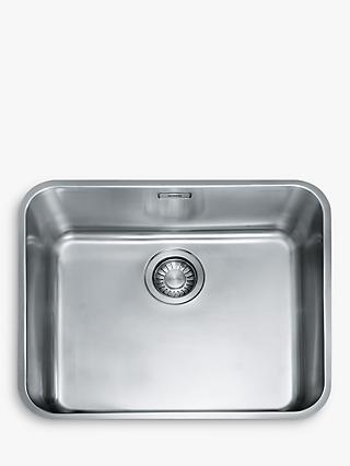 Franke Largo LAX 110 50 41 Undermounted Single Bowl Kitchen Sink, Stainless  Steel