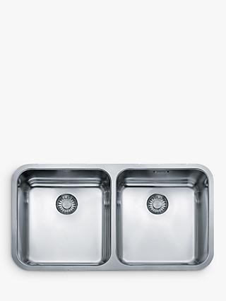 Franke Largo LAX 120 36-36 Undermounted 2 Bowl Kitchen Sink, Stainless Steel