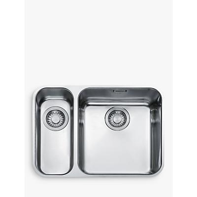 Franke Largo LAX 160 36-16 Undermounted 1.5 Bowl Kitchen Sink, Stainless Steel