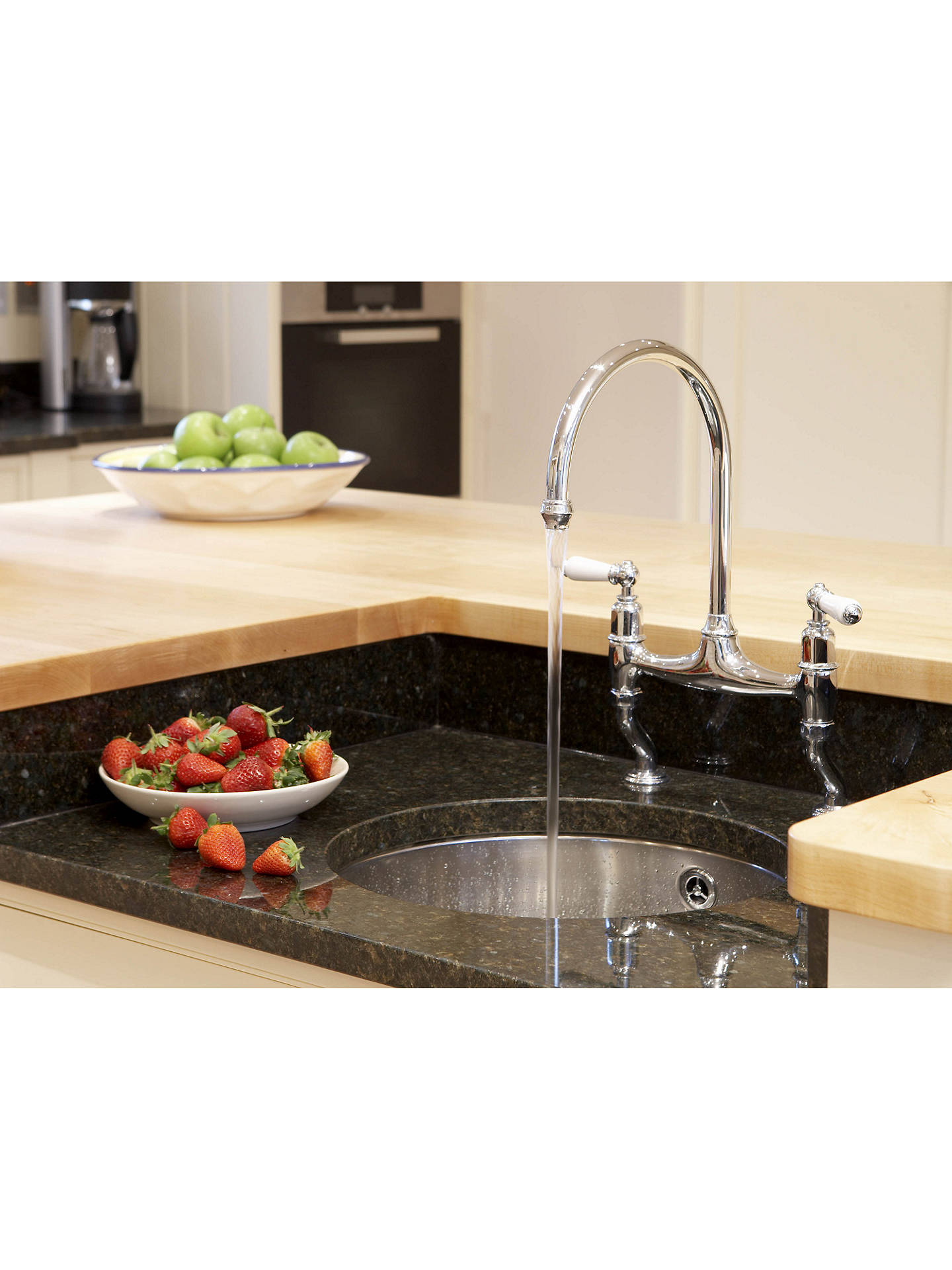 Buy Perrin & Rowe Phoenician 4460 Monobloc 2 Lever Mixer Kitchen Tap, Chrome Online at johnlewis.com