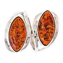 Buy Be-Jewelled Double Navette Amber Ring, Cognac Online at johnlewis.com