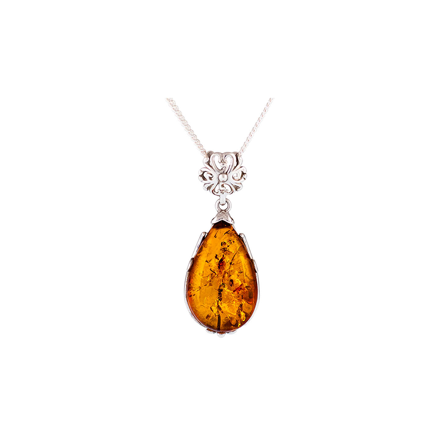 buybe rsp shaped main pear necklace amber com johnlewis at pendant cognac john be jewelled lewis online pdp shape