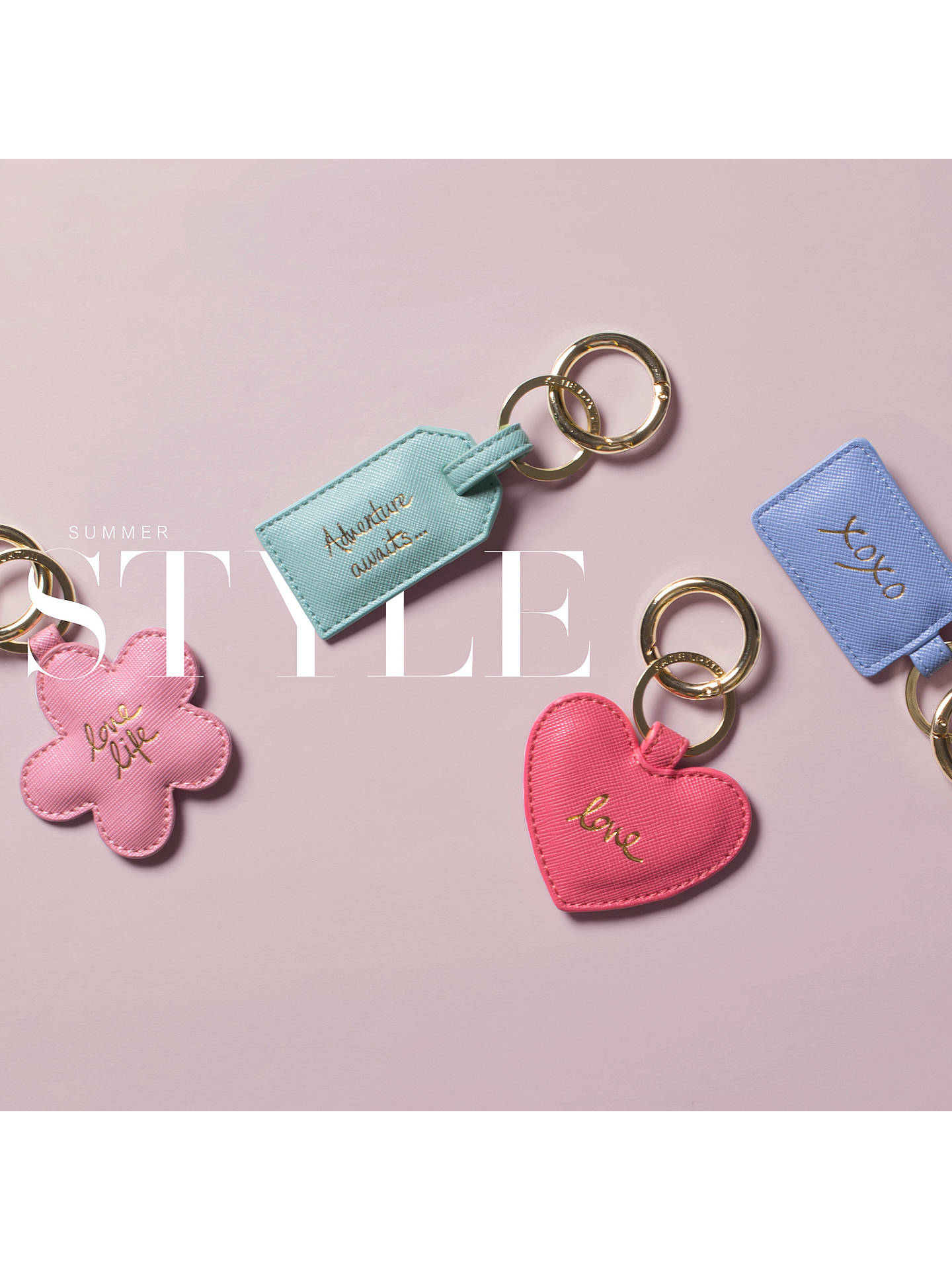 Buy Katie Loxton Luggage Tag Keyring, Mint Online at johnlewis.com