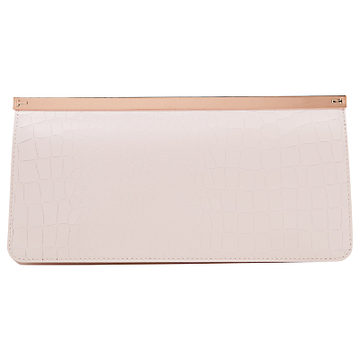 Ted Baker Miley Leather Clutch Bag, Baby Pink
