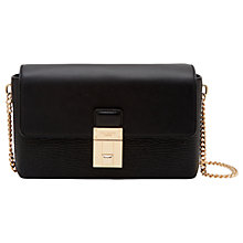 Buy Ted Baker	Beckaa Leather Across Body Bag, Black Online at johnlewis.com