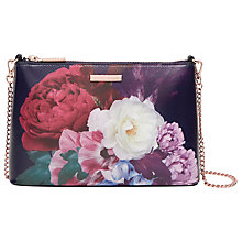 Buy Ted Baker Narla Blushing Bouquet Leather Across Body Bag, Navy Online at johnlewis.com