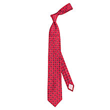 Buy Thomas Pink Crome Geo Woven Silk Tie, Red/Navy Online at johnlewis.com