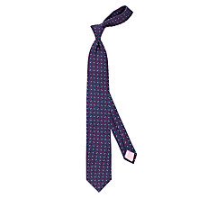 Buy Thomas Pink Crome Geo Woven Silk Tie, Navy/Red Online at johnlewis.com