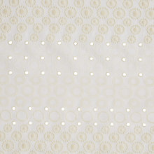 Buy Kokka Embroidered Cutwork Block Circles Fabric, Cream Online at johnlewis.com