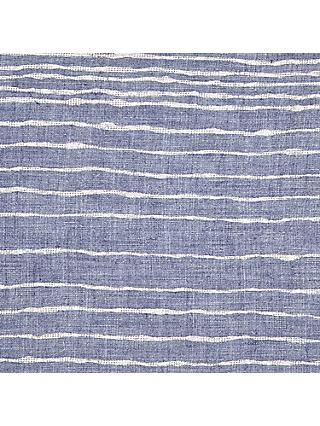 Viscount Textiles Freehand Stripe Fabric, Blue