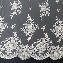 Buy Carrington Fabrics Lucinda Bridal Lace Fabric, Ivory Online at johnlewis.com