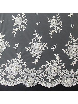 Carrington Fabrics Lucinda Bridal Lace Fabric, Ivory
