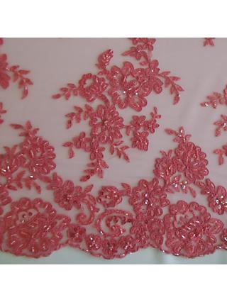 Carrington Fabrics Naomi Bead Bridal Lace Fabric