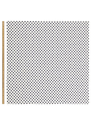 Buy Oddies Textiles Structured Jersey Spot Fabric, Ivory Online at johnlewis.com