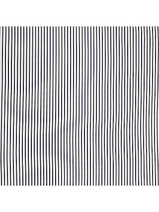 Oddies Textiles Structured Jersey Stripe Fabric, Blue/White