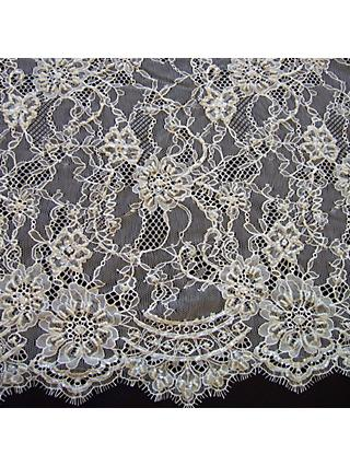 Carrington Fabrics Rebecca Bridal Lace Fabric, Ivory