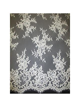 Carrington Fabrics Teresa Bridal Lace Fabric, Ivory