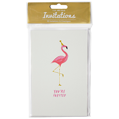 Product photo of Art file flamingo invitation cards pack of 10