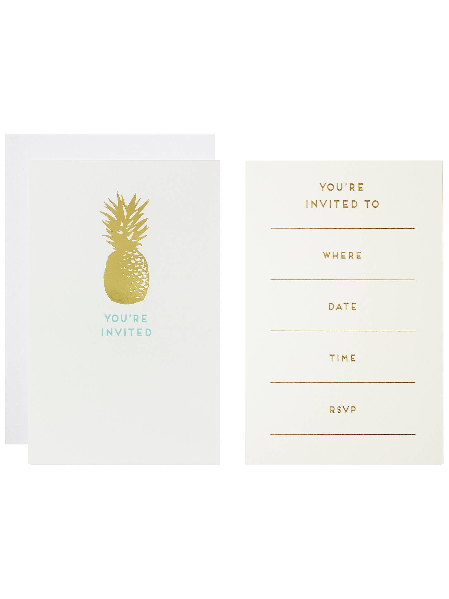Art file pineapple invitation cards pack of 10 at john lewis partners buyart file pineapple invitation cards pack of 10 online at johnlewis stopboris Image collections