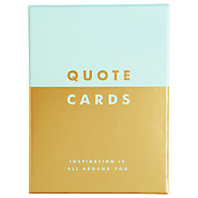 Buy kikki.K Quote Cards, Pack of 12 Online at johnlewis.com
