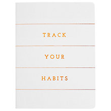 Buy kikki.K A7 Track Your Habits Book Online at johnlewis.com