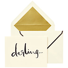 Buy kate spade new york 'darling...' Fold Over Notecards, Pack of 10 Online at johnlewis.com