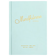 Buy kikki.K Mindfulness Journal, Turquiose Online at johnlewis.com