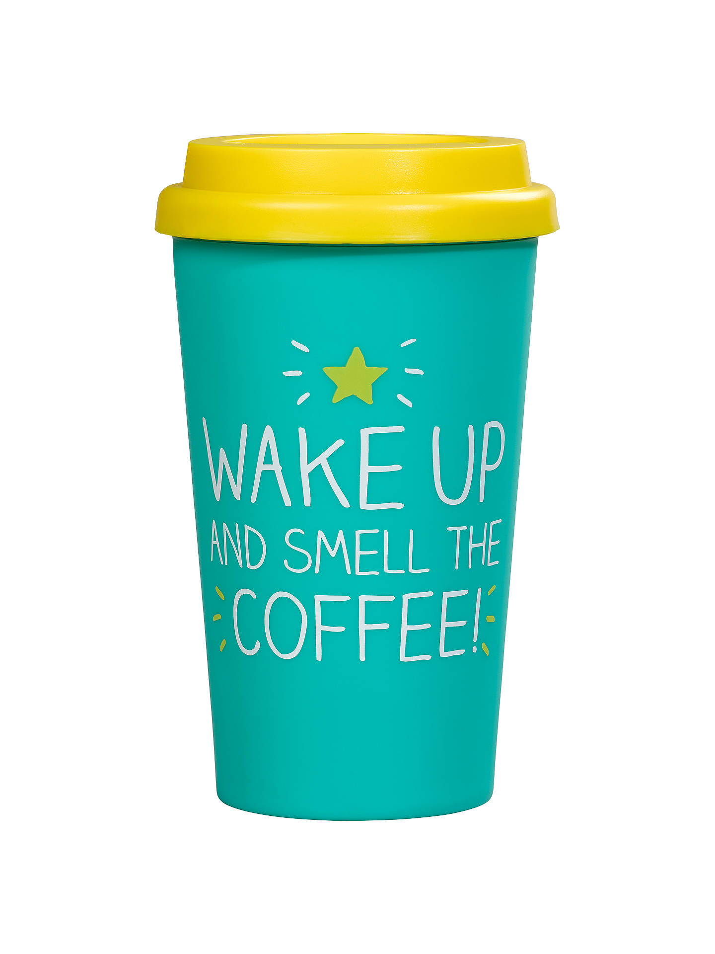 6df9407e570 Happy Jackson 'Wake Up And Smell The Coffee' Thermal Mug, Green at ...