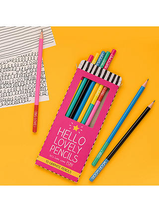 Buy Happy Jackson 'Hello Lovely Pencils', Set of 10 Online at johnlewis.com