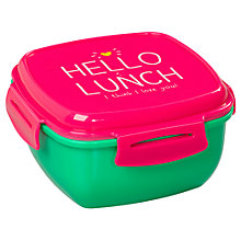 Buy Happy Jackson 'Hello Lunch' Lunchbox, Pink / Green Online at johnlewis.com