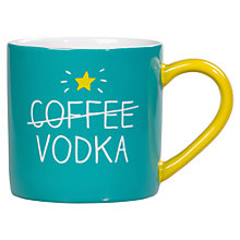 Buy Happy Jackson Coffee Vodka Mug, Green Online at johnlewis.com