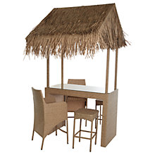 Buy Wicker Rattan Tiki Bar With 2 Stools & 2 Chairs Online at johnlewis.com