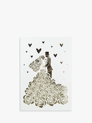 Buy Quire Collections Rose Wedding Dress Wedding Card Online at johnlewis.com
