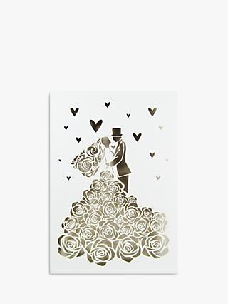 Quire Collections Rose Wedding Dress Wedding Card