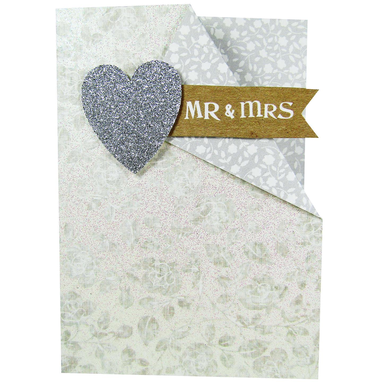 Paper Salad Mr & Mrs Wedding Card at John Lewis