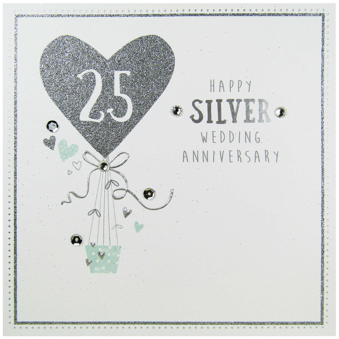 Carte blanche silver anniversary greeting card at john lewis buycarte blanche silver anniversary greeting card online at johnlewis m4hsunfo